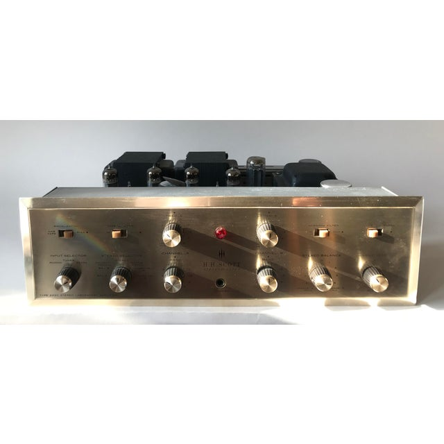 1960's Vintage MCM Hh Scott Integrated Tube Amplifier 222c For Sale - Image 4 of 12