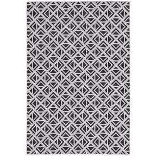 Nikki Chu by Jaipur Living Tanith Indoor/ Outdoor Geometric Area Rug - 5′3″ × 7′6″ For Sale