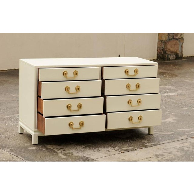Stellar Restored Landstrom Eight-Drawer Chest in Cream Lacquer For Sale - Image 10 of 10