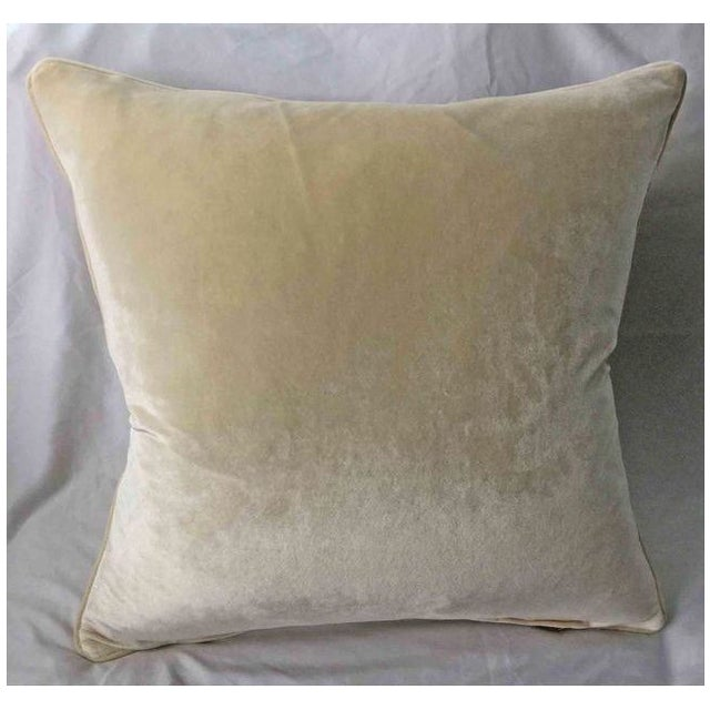 Scalamandre New! Stark Scalamandre Panne Velvet Sheer Overlay Pillow ~ Down Feather Insert Included. For Sale - Image 4 of 5