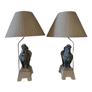 Vintage Trojan Horse Leeazanne Table Lamps - a Pair For Sale
