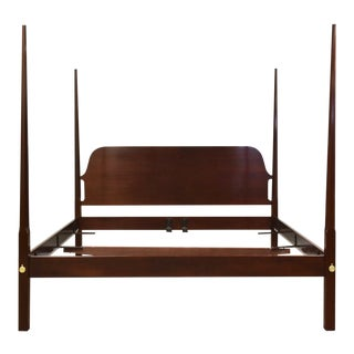 Solid Mahogany Pencil Post King Bed by Councill For Sale