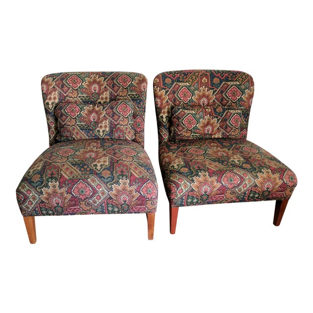 Drexel Heritage Vintage Slipper Chairs - A Pair - Image 1 of 5