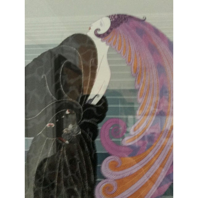 """Impressionism Erte Signed """"Beauty and the Beast"""" Serigraph For Sale - Image 3 of 7"""
