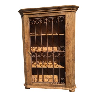 European Pine Display/Wine Cabinet or Bookcase For Sale