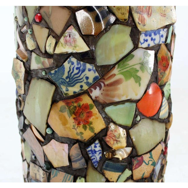 Mosaic Heavy Pottery Cane or Umbrella Stand - Image 9 of 10