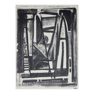 Modernist Abstract Lithograph, Mid 20th Century
