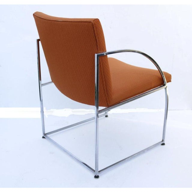 Mid-Century Modern Chrome-Framed Pair of Chairs by Milo Baughman for Thayer Coggins For Sale - Image 3 of 6
