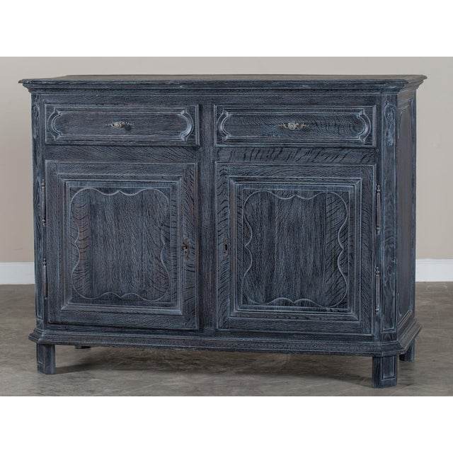 Antique French Régence Style Black Limed Oak Buffet circa 1770 - Image 2 of 11