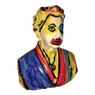 Peter Keil Abstract Painted Sculpture Bust