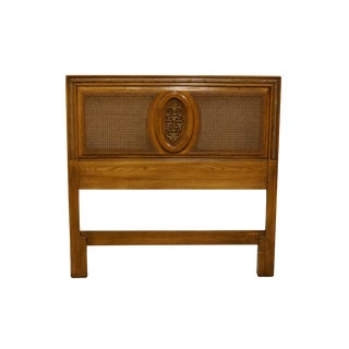 1940s Vintage Italian Provincial Style Twin Size Cane Back Headboard For Sale