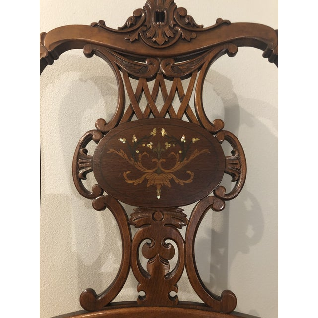 Late 19th Century Late 19th Century Antique Victorian Rosewood Chair For Sale - Image 5 of 10