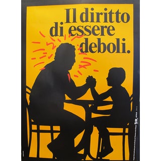 1989 Original Poster for Artis 89's Images Internationales Pour Les Droits De l'Homme Et Du Citoyen - Il Diritto DI Essere Deboli For Sale