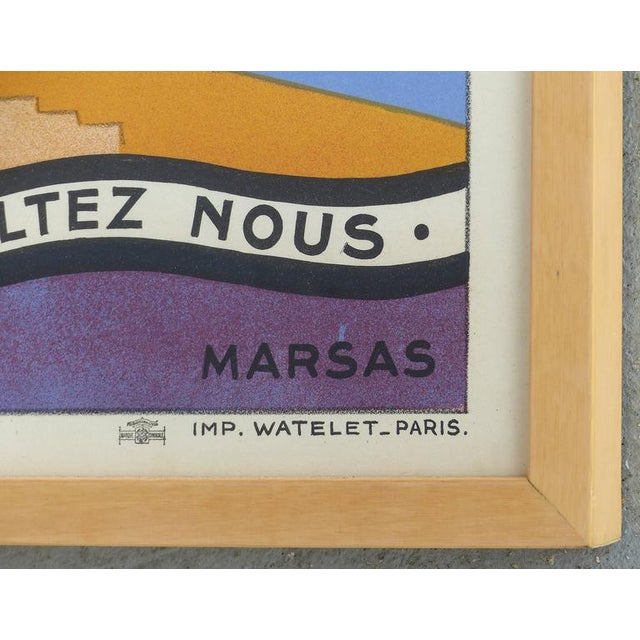 1930s French Art Deco Vacances Poster by Marsas For Sale - Image 5 of 10