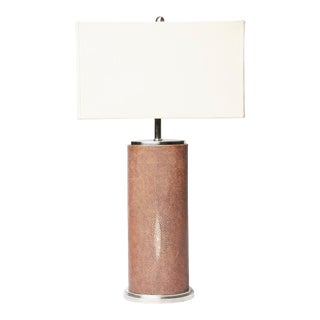 Contemporary Shagreen and Nickel Table Lamp For Sale