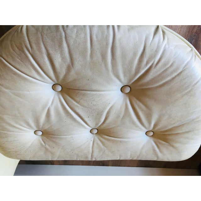 Vintage Distressed Leather Tufted Chair With Ottoman For Sale In Seattle - Image 6 of 13