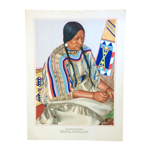 1940s Blackfoot Indian Print by Winold Reiss - Image 1 of 4