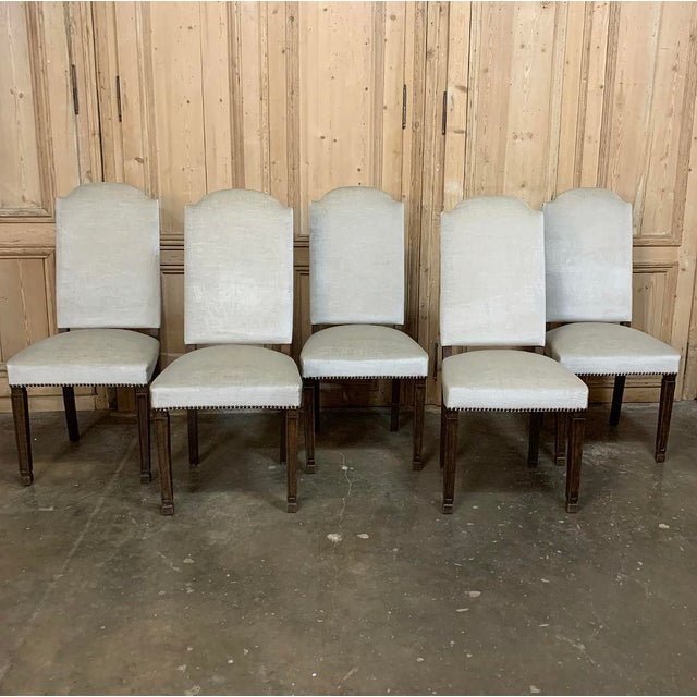 Neoclassical Vintage Mid Century Neoclassical Dining Chairs- Set of 10 For Sale - Image 3 of 13