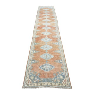1950s Vintage Persian Mahal Runner For Sale