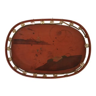 Wood and Shell Chinoiserie Tray For Sale