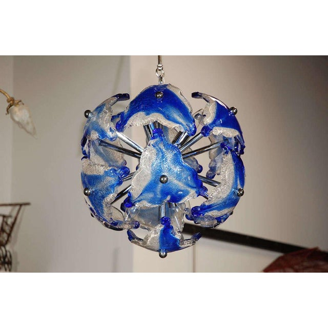 Glass Art Glass Chandelier For Sale - Image 7 of 7