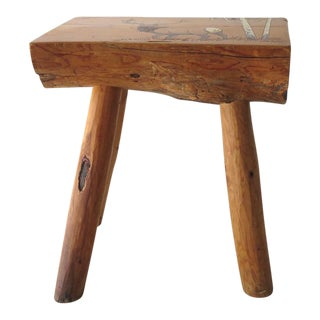 Split Log Side Table For Sale