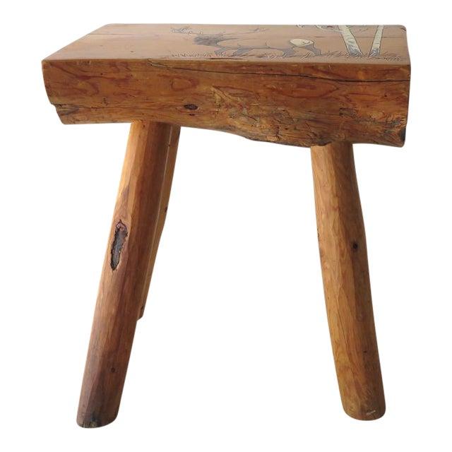 Split Log Side Table For Sale