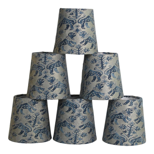 Fortuny Richelieu Chandelier Shades - Set of 6 For Sale