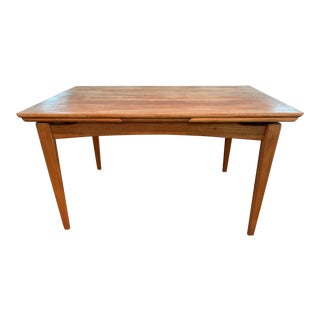 Vintage Mid-Century Modern Extension Dining Table For Sale