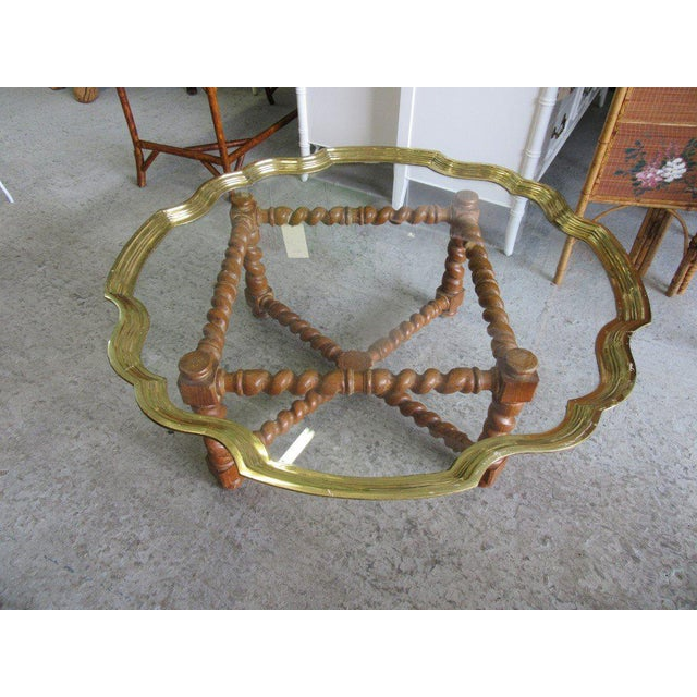 Baker Pie Crust Tray Top Coffee Table - Image 5 of 11