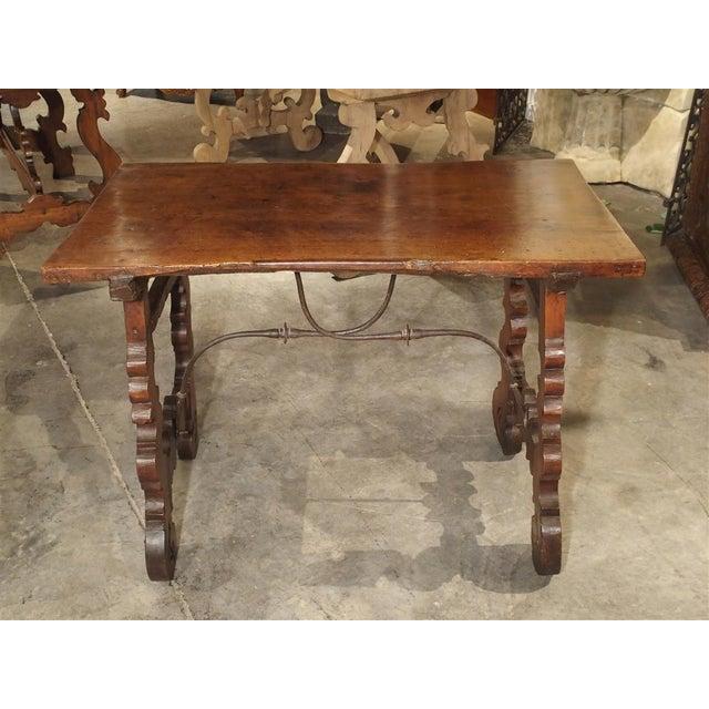 Circa 1750 Italian Walnut Wood Writing Table For Sale - Image 11 of 13