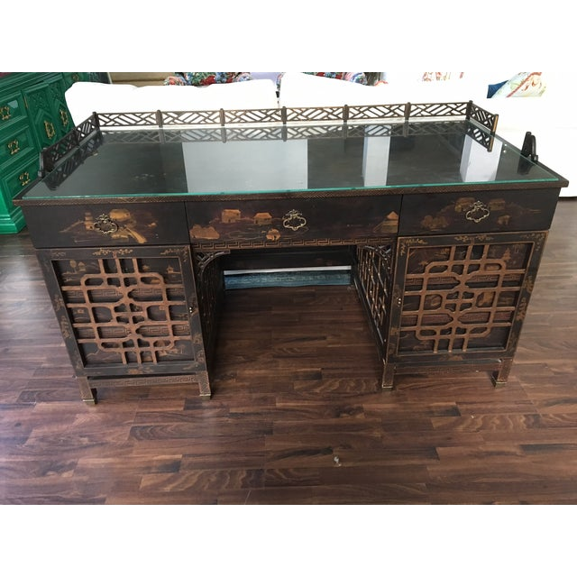 Drexel Heritage Mandalay Asian Chinoiserie Desk - Image 2 of 11