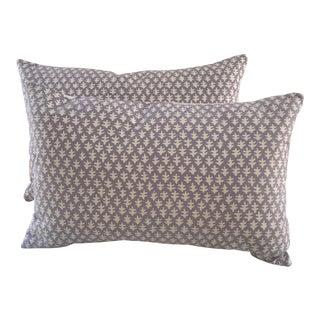 Sister Parish Fabric Lilac Kidney Pillows - A Pair