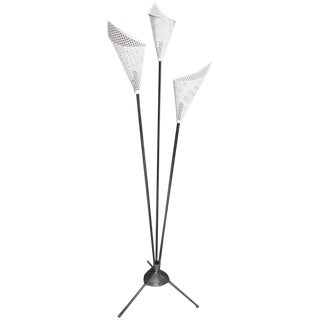 Midcentury Italian Floor Lamp in the Style of Stilnovo For Sale