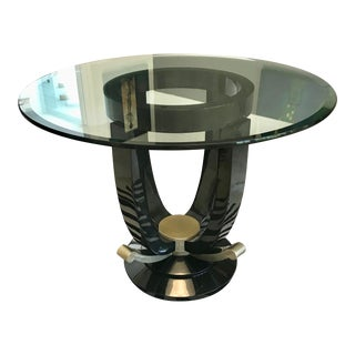 Art Deco Black Lacquer Foyer Table For Sale