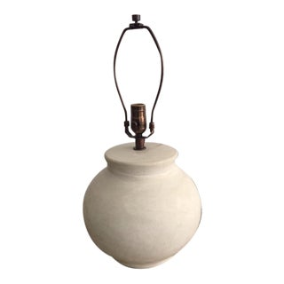 Handmade Moroccan Pottery Table Lamp For Sale