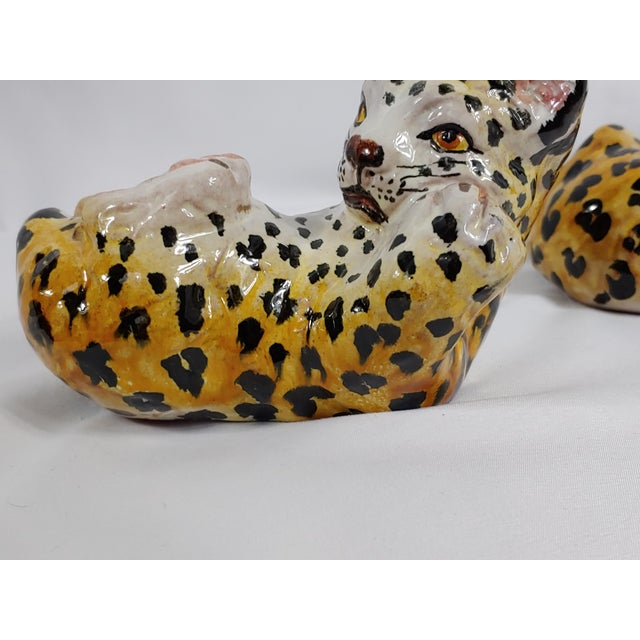 Mid Century Italian Leopard Cubs - Set of 3 For Sale In Buffalo - Image 6 of 7