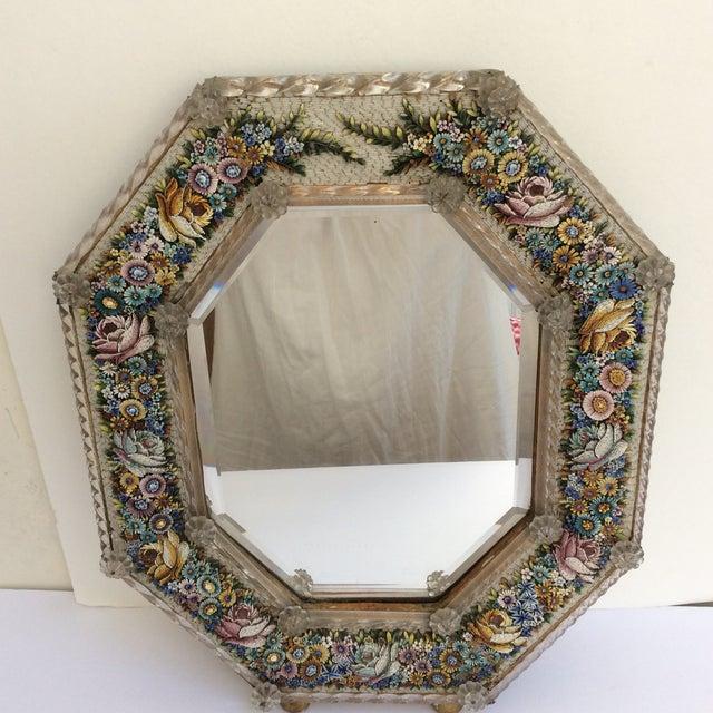 Italian Antique Micro Mosaic Venetian Glass Mirror For Sale - Image 3 of 4