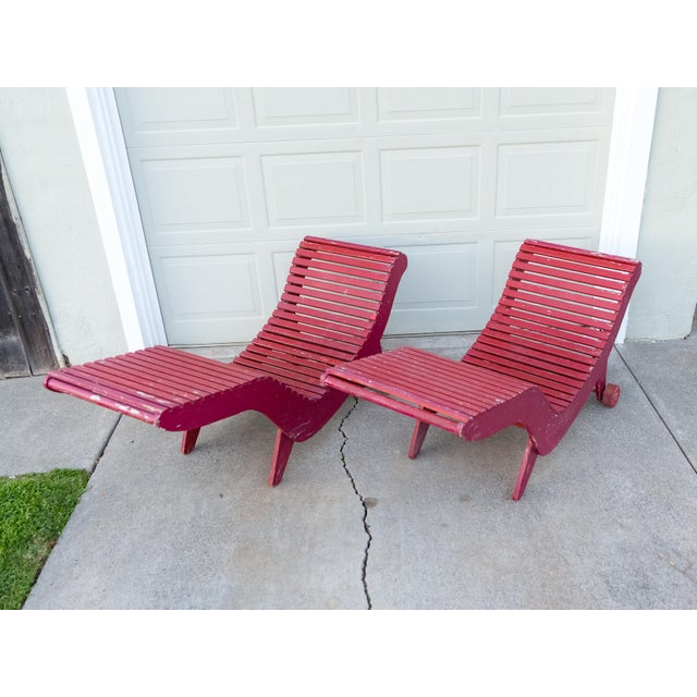 Klaus Grabe C5 Plywood Chaise Lounges - A Pair For Sale - Image 13 of 13