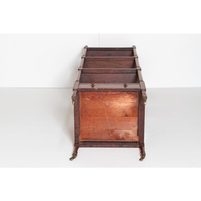 George III Four-Tier Mahogany Whatnot With Drawer For Sale - Image 12 of 13