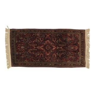 Antique Leon Banilivi Persian Sarouk - 2′1″ × 4′