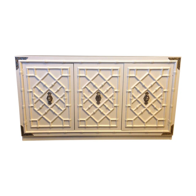 Thomasville Faux Bamboo Credenza - Image 1 of 8