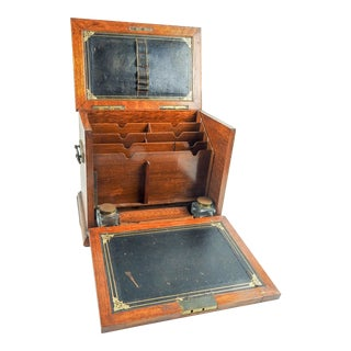 Antique Folding Portable Writing Desk For Sale