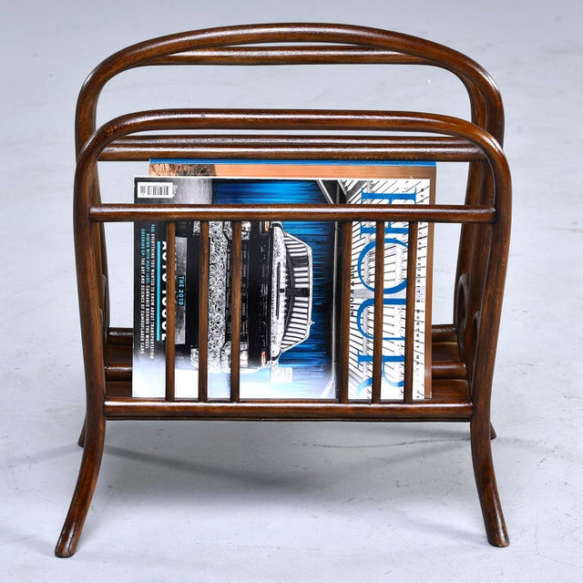 1940s Early Thonet Bentwood Magazine Rack For Sale - Image 5 of 12