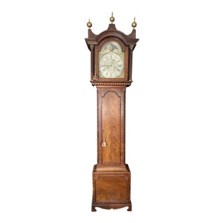 18th Century Georgian English Grandfather Clock For Sale