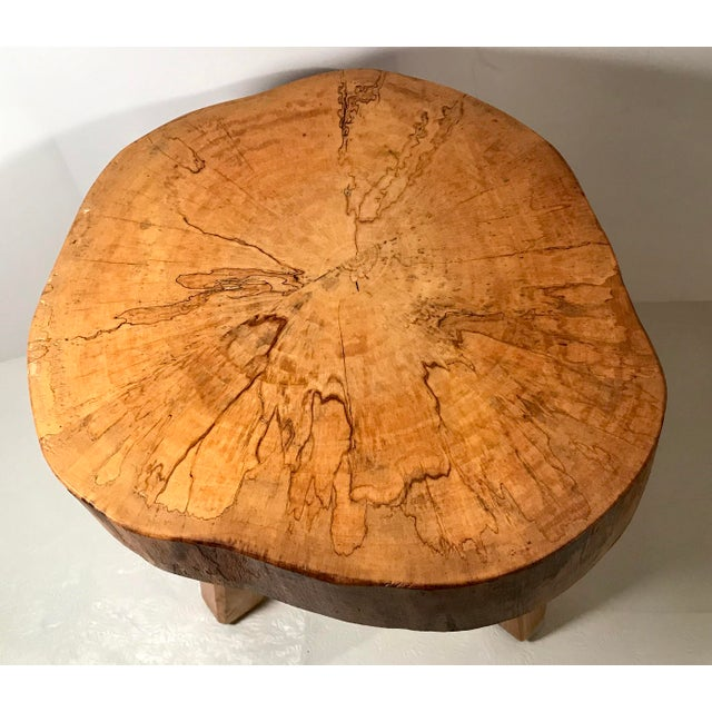 Vintage Mid Century Wood Butcher Block Stool For Sale In Dallas - Image 6 of 8