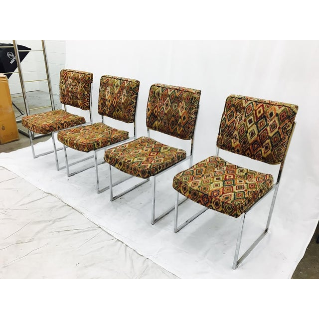 Vintage Mid-Century Modern Chrome Frame Chairs - Set of 4 For Sale - Image 4 of 11