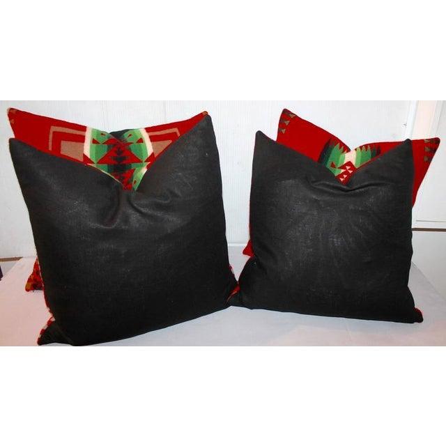 Adirondack Pendleton Indian Design Camp Blanket Pillows For Sale - Image 3 of 3