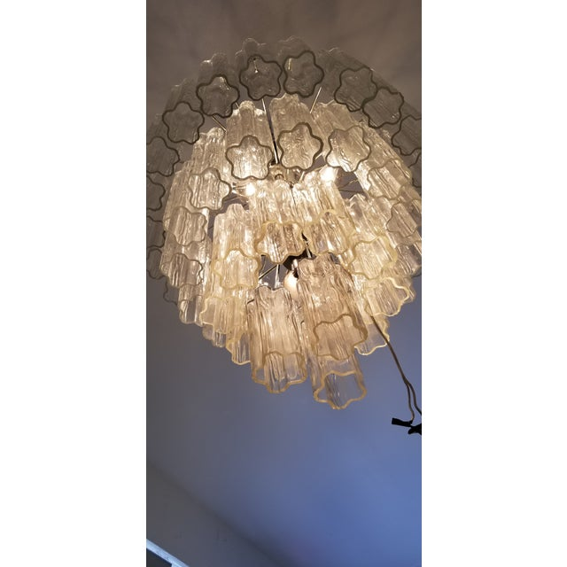 """Vintage Italian """" Tronchi """" Murano Glass Chandelier by Venini. For Sale - Image 4 of 13"""
