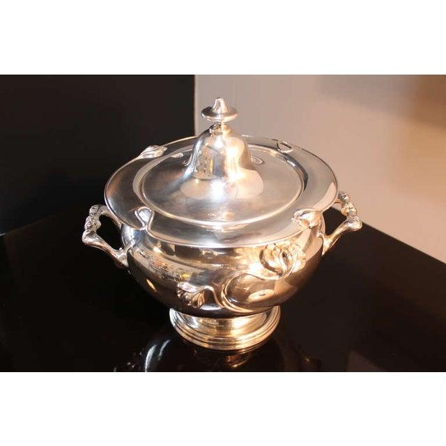 Art Nouveau Silver-Plate Tureen - Image 3 of 4